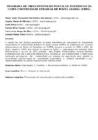 Programa de Treinamento do Portal de Periódicos da Capes Universidade Estadual de Ponta Grossa (UEPG). (Pôster)