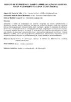 Relato de experiência sobre a implantação do Sistema SIGAA nas Bibliotecas dos Campi do IFAL. (Pôster)