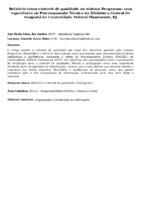 Relatório como controle de qualidade no sistema Pergamum: uma experiência no processamento técnico da Biblioteca Central do Gragoatá da Universidade Federal Fluminense, RJ.(Pôster)