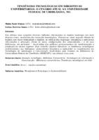 Tendências tecnológicas em bibliotecas universitárias: o cenário atual na Universidade Federal de Uberlândia, MG. (Pôster)