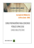 Curso Preparatório para Concurso Público na área de Biblioteconomia: Material didático instrumental