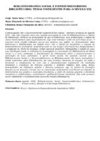 Biblioteconomia Social e Empreendedorismo Bibliotecário: temas emergentes para o século XXI