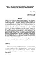O impacto da tecnologia sobre os serviços de referência e instrução bibliográfica em bibliotecas universitárias.