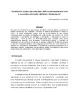Perspectiva teórica de condutas e práticas profissionais para o alcance da inovação científica e tecnológica.