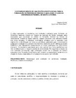O estabelecimento de uma política institucional para a publicação de periódicos visando a qualidade: o caso da Universidade Federal de Santa Catarina.