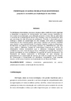 Preservação de acervo em bibliotecas universitárias: proposta de um modelo para implantação de uma divisão.