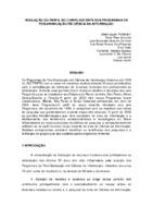 Evolução do perfil do corpo docente dos Programas de Pós-Graduação em Ciência da Informação.