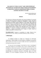 """Avaliação do tutorial on-line: """"Como fazer referências: bibliográficas, eletrônicas e demais formais de documentos""""da Biblioteca Central da Universidade Federal de Santa Catarina e seu impacto na web."""