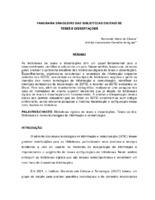 Panorama brasileiro das Bibliotecas Digitais de Teses e Dissertações.