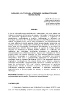 Catálogo coletivo para integração das Bibliotecas do Sistema ACAFE.