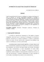 Critérios de avaliação para coleções de periódicos.