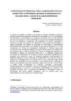 Apropriação informacional para a cidadania sob o foco do usuário final de programas nacionais de informação e/ou inclusão digital: análise de algumas experiências brasileiras.