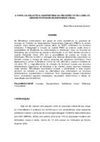 Papel da biblioteca universitária no processo de inclusão de usuário portador de deficiência visual.