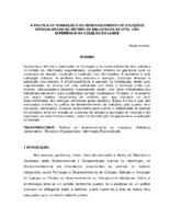 A política de formação e do desenvolvimento de coleções especializadas do Sistema de Bibliotecas da UFRJ: uma experiência da coleção do LAMCE.