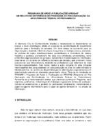 Programa de apoio à publicações - PROGAP um relato de experiência do Programa de Pós-graduação da Universidade Federal de Pernambuco.