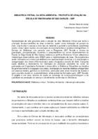 Biblioteca virtual da área ambiental: proposta de criação na Escola e Engenharia de São Carlos - USP. (Pôster)