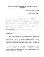 Uso da coleção de periódicos da Biblioteca Nilo Peçanha - CEFET/PB. (Pôster)