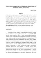 Evolução da produção científica brasileira odontológica no PUBMED, no período de 1966 a 2003. (Pôster)