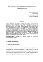 Avalliação da coleção de referência da Biblioteca Nilo Peçanha - CEFET/PB. (Pôster)