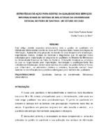 Estratégias de ação para gestão da qualidade nos serviços informacionais do Sistema de Bibliotecas da Universidade Estadual de Feira de Santana: um estudo de caso.(Pôster)