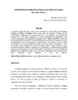 Setor Braile da Biblioteca Pública do Estado da Bahia: inclusão social? (Pôster)