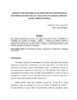 Proposta para melhoria da acessibilidade aos portadores de deficiências na Biblioteca da Faculdade de Filosofia e Ciências – UNESP - Campus de Marília. (Pôster)