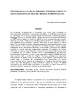 Preservação da cultura no semi-árido nordestino através do acervo documental da Biblioteca Setorial Monsenhor Galvão. (Pôster)