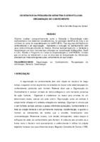 Os desafios da pesquisa em Geriatria e Gerontologia: organização do conhecimento. (Pôster)