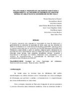 Projeto AQUILIV: proposta de uma base de dados para o gerenciamento do processo de aquisição de livros no Sistema de Bibliotecas da Universidade de São Paulo. (Pôster)