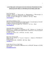 A contribuição da pesquisa dos docentes dos programas de pós- graduação em ciência da informação nos SNBUs (2000- 2004).