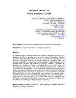 Análise bibliométrica da produção científica da UNESP.