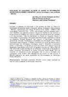 Avaliação da qualidade da base de dados de informações jornalísticas sobre a Amazônia: ciência, tecnologia e meio ambiente – BDIJAM.