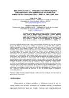 Biblioteca digital: análise das comunicações apresentadas nos Seminários Nacionais de Bibliotecas Universitárias - SNBU's: 2000, 2002, 2004.