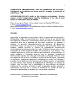 Competência informacional: perfil dos profissionais da informação - bibliotecário de instituições de ensino superior privado do município de João Pessoa – PB.