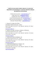 Criação de indicadores sobre o Serviço de Comutação Bibliográfica da BCO/UFSCAR em 2004-2005, através de análise bibliométrica automatizada.