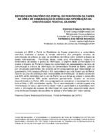 Estudo exploratório do Portal de Periódicos da CAPES na área de Comunicação e Ciência da Informação da Universidade federal da Bahia.