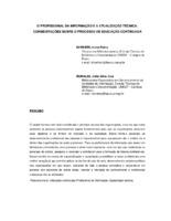 O profissional da informação e a atualização técnica: considerações sobre o processo de educação continuada.