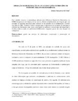 Operação de higienização de um acervo após princípio de incêncio: relato de experiência.