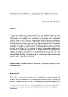 Periódicos eletrônicos: avaliação de uso e meios de acesso.