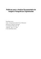 Políticas para a análise documentária de imagens fotográficas digitalizadas.