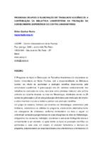 Programa de apoio à elaboração de trabalhos acadêmicos: a contribuição da biblioteca universitária na produção do conhecimento (experiência do Centro Universitário).