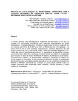 Projeto de catalogação de microformas: experiência com a Coleção Cicognara na Biblioteca Central Cesar Lattes - Sistema de Bibliotecas da UNICAMP.