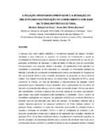 A relação orientando-orientador e a mediação do bibliotecário na produção do conhecimento com base na teoria histórico-cultural.