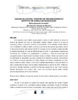 Análise de autoria: patentes de pesquisadores do Instituto de Química de Araraquara.