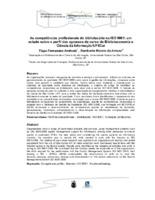 As competências profissionais do bibliotecário na ISO 9001: um estudo sobre o perfil dos egressos do curso de Biblioteconomia e Ciência da Informação/UFSCar.