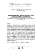 Audioteca: parcerias para a formaçao de multiplicadores.