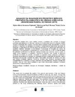 Avaliação da qualidade dos produtos e serviços prestados pela Biblioteca de Ciências Jurídicas da Universidade Federal do Paraná (UFPR).