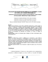 Avaliação de fontes de informação na Internet: o caso do Portal de Turismo iPernambuco.