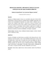 Bibliotecas digitais e virtuais no contexto da EaD: serviços on-line para usuários remotos.