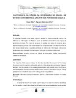 Cartografia da Ciência da Informação no Brasil.
